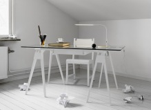 Arco desk by Chuck Mack