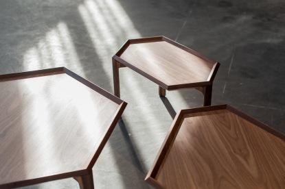 Kuusio table & tray byAntrei Hartikainenis