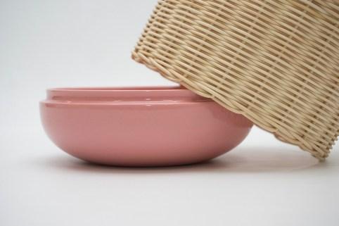 Weave vase by Kunikazu Hamanishi