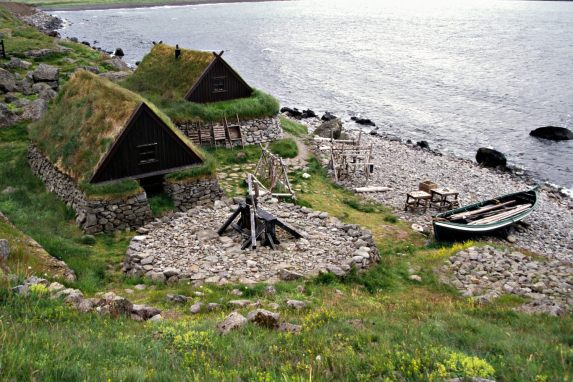 Traditional Fishermen's Houses in Iceland