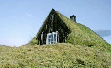 Traditional Turf House in Iceland