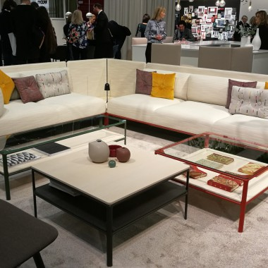 new CREST sofa and tables by Materia