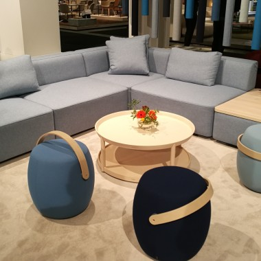 GRANDFIELD sofa, CARRY ON stools by Offecct
