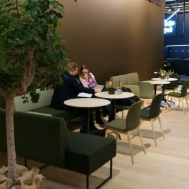 TIMEOUT chairs, NESTOR sofa at Skandiform